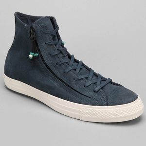 Converse Double Zip High-Top Blue Suede Sn…